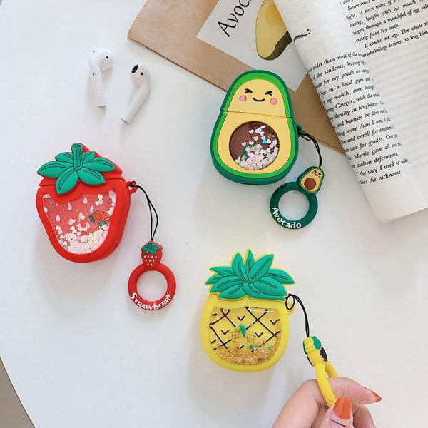 Airpods Case Cover 3D - Season Fruits (Liquid Glitter)