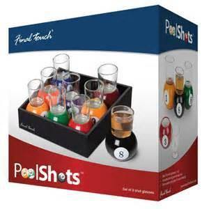 Billiards Shot Glasses (Nine-Ball Pool Gift /Party Game, Whisky, Vodka Cups)