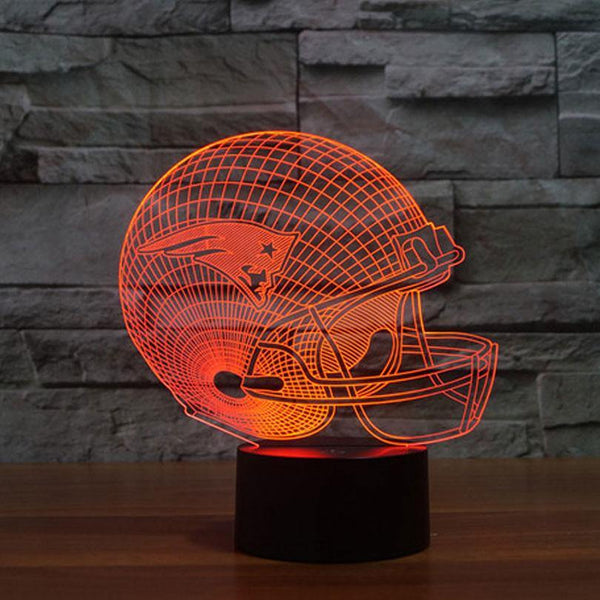 Football Night Light Sign -Helmet LED 3D Lamp (Room Decoration /Home Decor /Window Display)