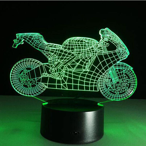 Motorcycle Night Light Sign -Motorbike Racing LED 3D Lamp (Room Home Decoration /Window Display)