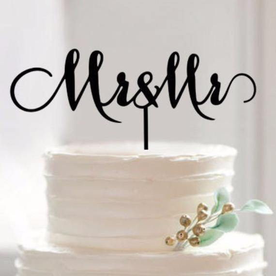 Mr & Mr Wedding Cake Topper (Gay Marriage /Homosexual /Same-Sex Love)