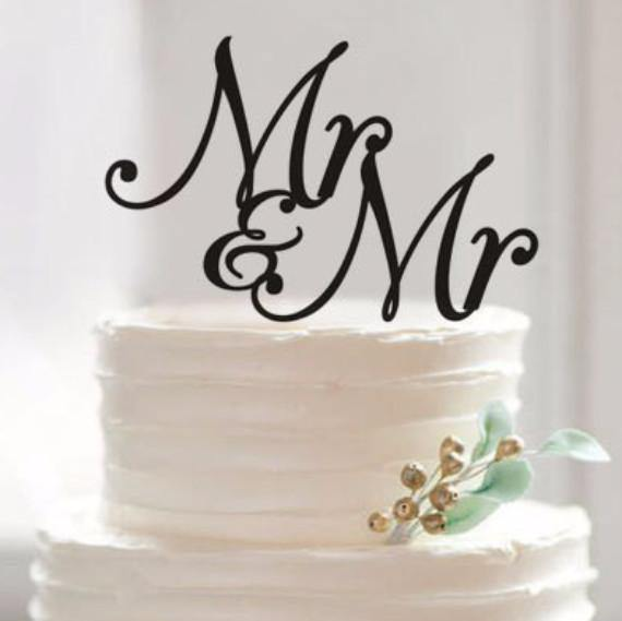Wedding Mr & Mr Cake Topper (Gay Marriage /Homosexual /Same-Sex Love)