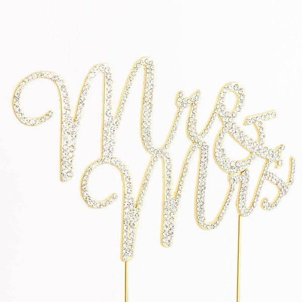 Mr Mrs Rhinestone Crystal Cake Topper for Wedding, Engagement, Anniversary &Bridal Shower Decoration CHARMERRY A01