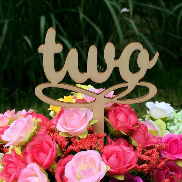 Table Numbers for Wedding Party Decorations ( Vintage /Romantic Rustic Theme) [1 to 10]