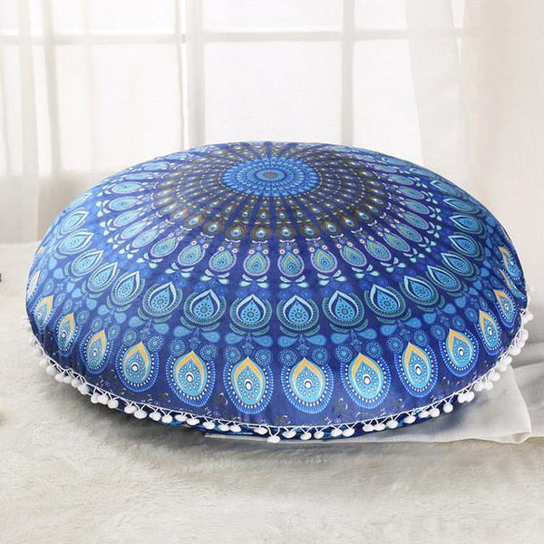 Pillowcases  /Floor Pillow Cases /Seat Cushion Covers (Decorative Accent Round Pouf /Home Decor)