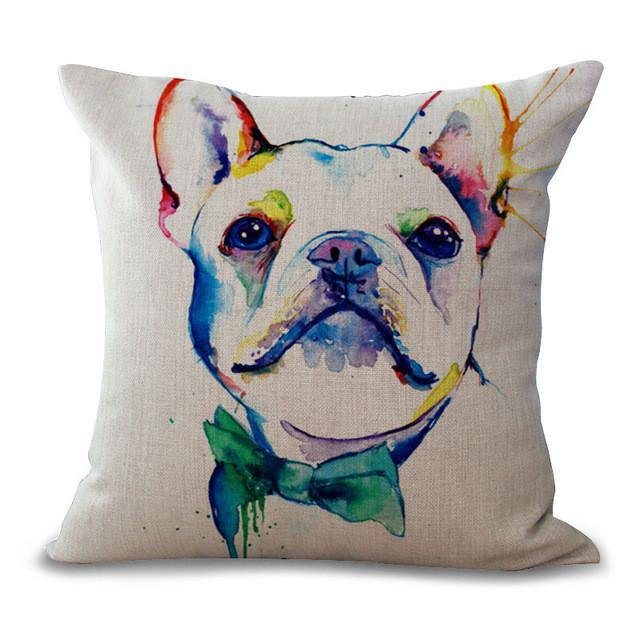 Bulldog Throw Pillow Cases (Dog Pet Puppy Cushion Covers /Pillowcases)