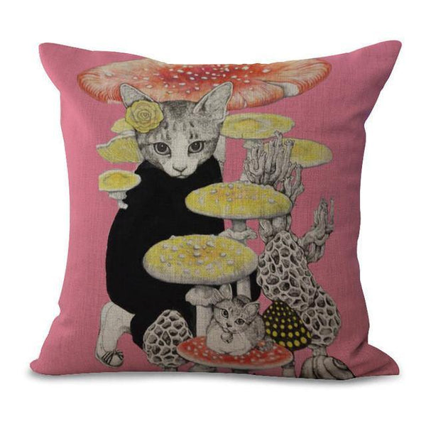 Cat Throw Pillow Cases (Designer Art Pillowcases /Pet Cushion Covers)