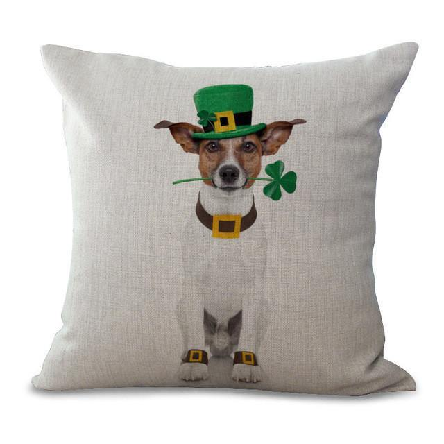 Dog Throw Pillow Cases (Cat Cushion Covers /Pet Puppy Pillowcases) [Jack Russell Terrier /Bulldog]