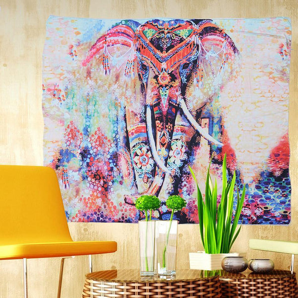 "Wall Hanging Tapestry /Tablecloth /Beach Throw Cover-Up Blanket /Home Decor (Elephant /Totem) [59""]"