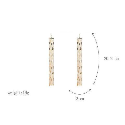 Shine Tassel Linear Earring