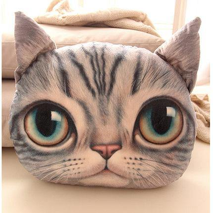 Kitty Cat Cushion Simulation 3D Pillow