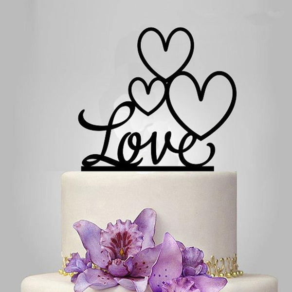 Love Wedding Cake Topper (Heart Shape /Engagement /Bridal Shower)
