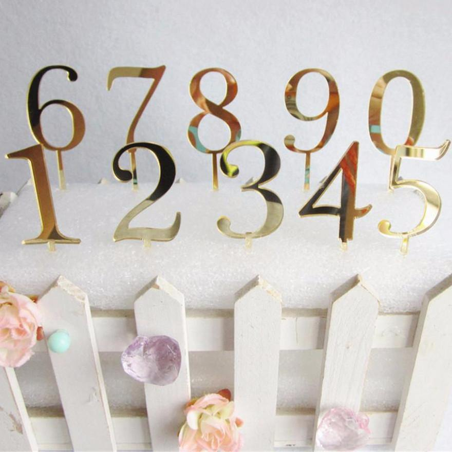 Gold Wedding Table Numbers (Romantic Beautiful Simple &Elegant)