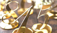 Load image into Gallery viewer, Wedding Table Numbers (Gold) [Simple &Elegant /Romantic /Beautiful] - CHARMERRY