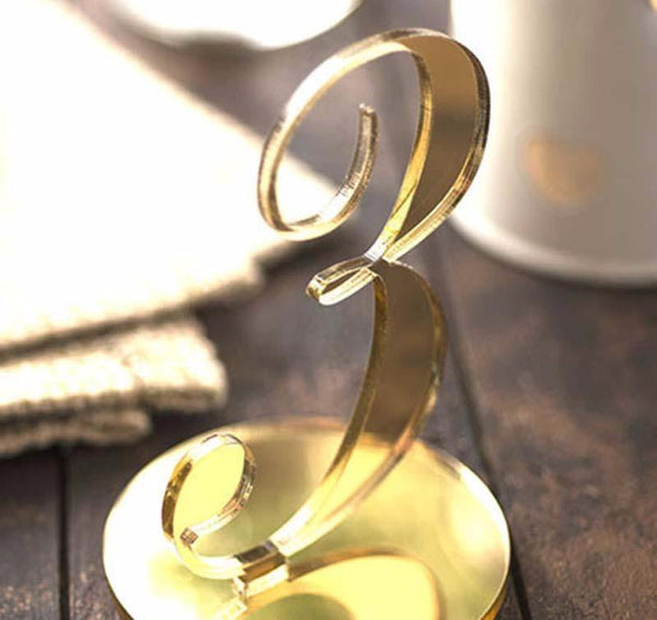 Wedding Table Numbers (Gold) [Simple &Elegant /Romantic /Beautiful] (1-10, 11-20)