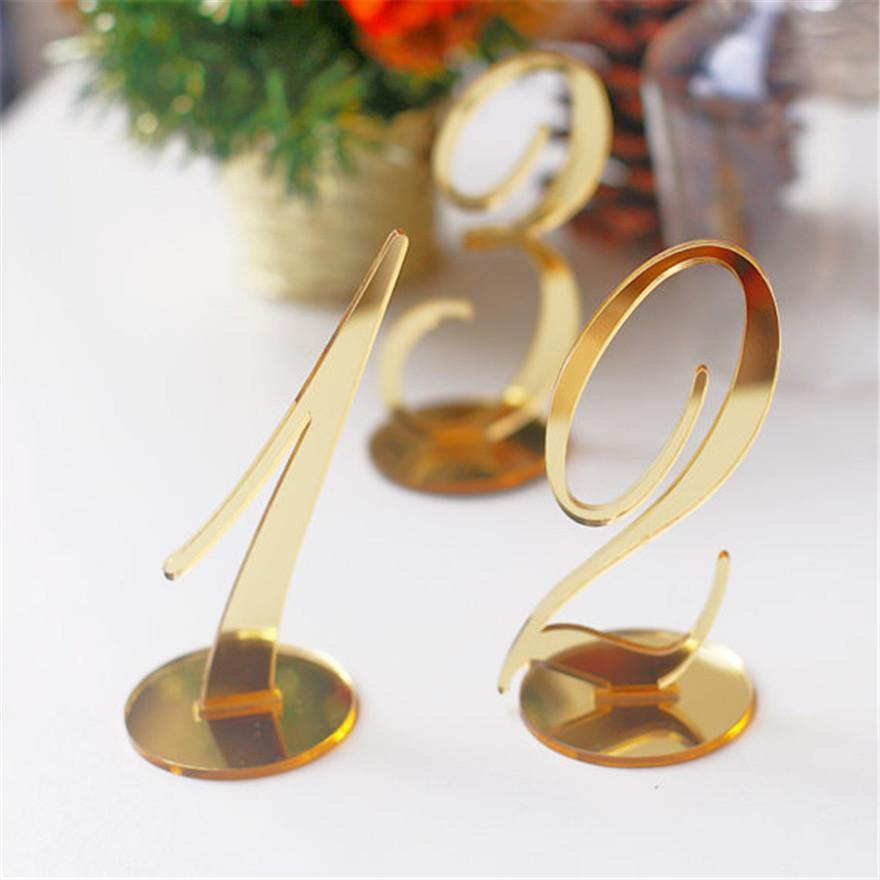 Gold Wedding Table Numbers: Wedding Table Numbers (Gold /Silver) [Simple &Elegant