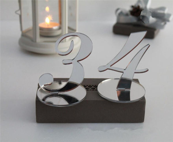 Wedding Table Numbers (Gold /Silver) [Simple &Elegant /Romantic /Beautiful]