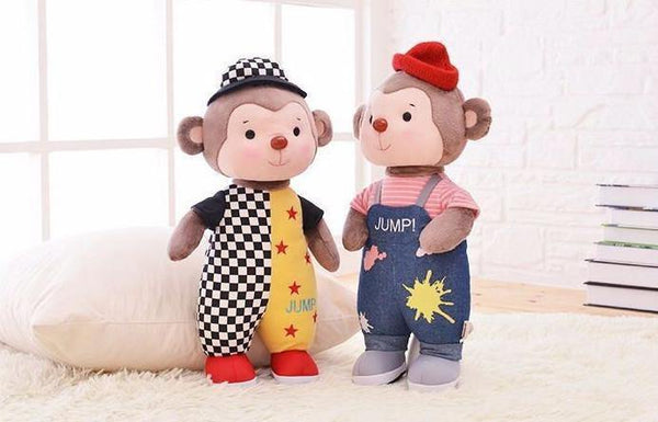 35cm semper monkey rabbit plush toy doll  Metoo doll Brinquedos Little monkey doll for baby kids gift - Charmerry