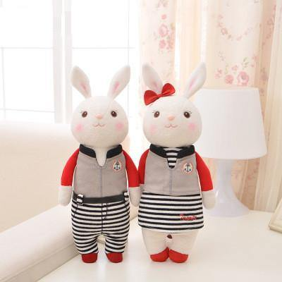 "Stuffed Toy /Plush Gift for Wedding Valentine Anniversary Engagement [14"" /35cm /Rabbit /Sport]"