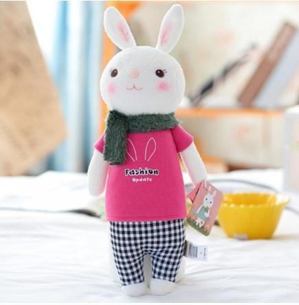 35CM Metoo New Arrival Lovely Dolls Angela Tiramisu Rabbit Cute Rabbits Plush Toys for girl Kids Valentine's Day Birthday Gift - Charmerry