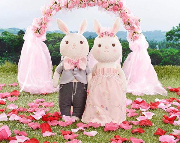 "Wedding Gift for Bride &Friend (Rabbit Doll /Stuffed Animal /Plush Toy) [15"" /3 Styles]"