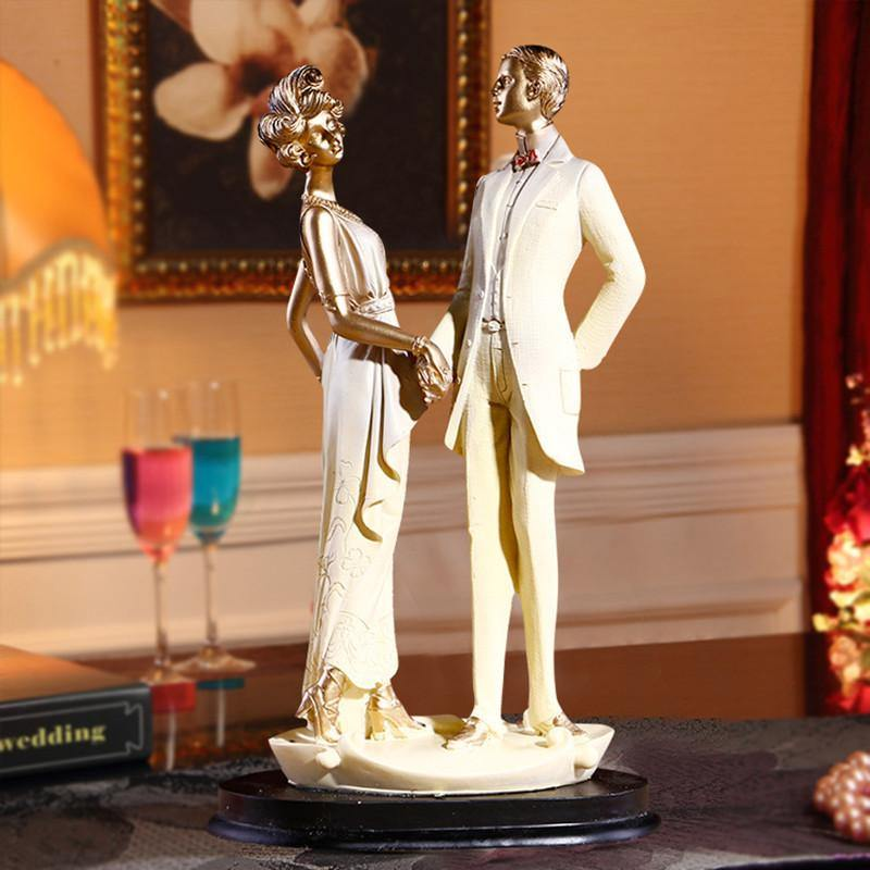 Wedding Gift -Groom Bride Figurine /Cake Topper Figure /Engagement Present - CHARMERRY