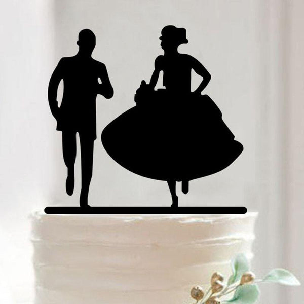 Wedding Cake Topper (Romantic Groom's Hands Around The Bride's Waist)