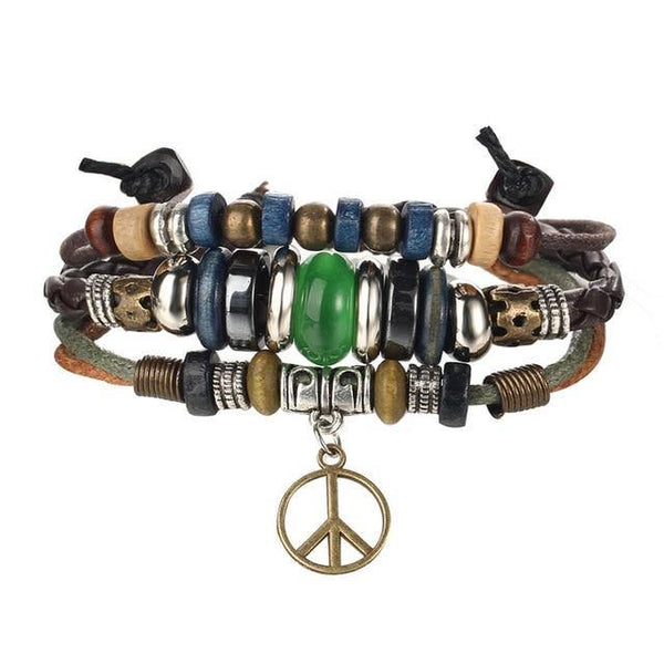 Leather Bracelets | Street Style Biker Southwest Rock`n Roll Outfit Additions & Accessories CHARMERRY A05