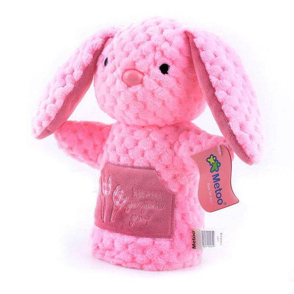 "Rabbit Hand Puppet /Pig Hand Puppet (Baby Kid Bunny Plush Learning Toy)[12"" /30cm]"