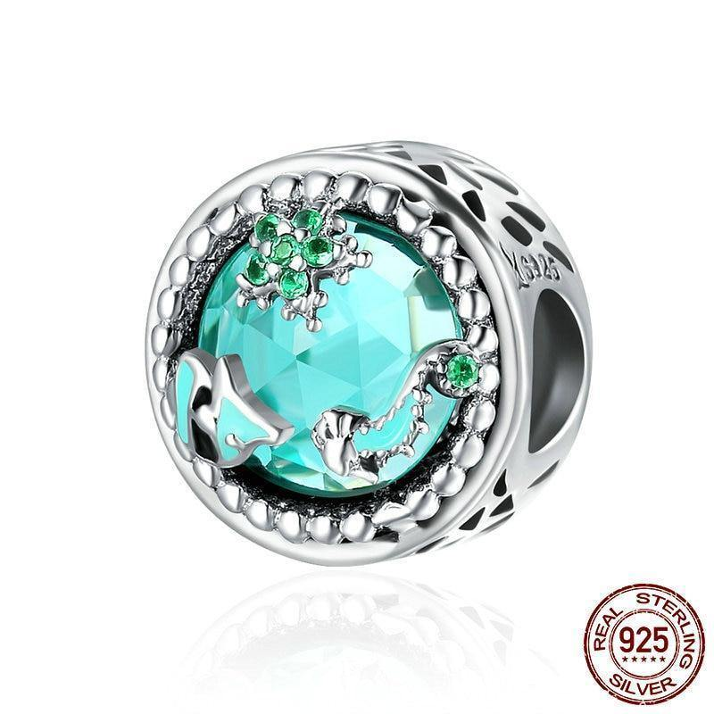 Ocean Mystery Charm - 925 Sterling Silver