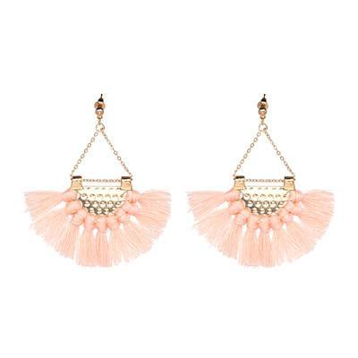 Tassel Chandeliers Statement Drop Earring (12 Colors)