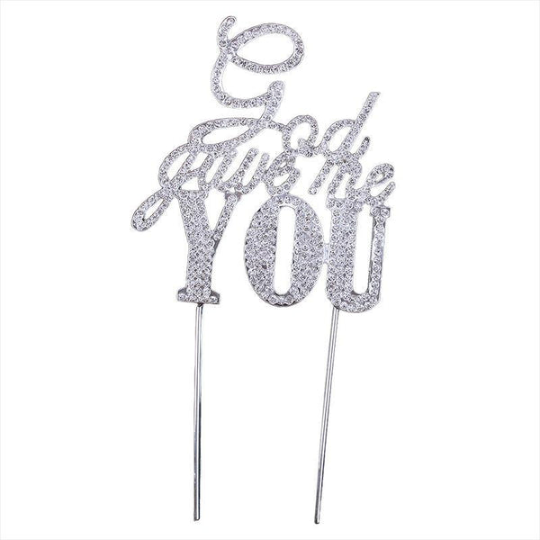 Rhinestone Crystal Cake Topper (Luxury Shiny Faux Diamond /Bling-Bling)