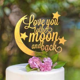 Cake Topper for Wedding Anniversary Engagement (Love Quotes /Poetry /Poem)