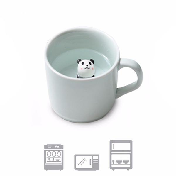 3D Animals Coffee Cup