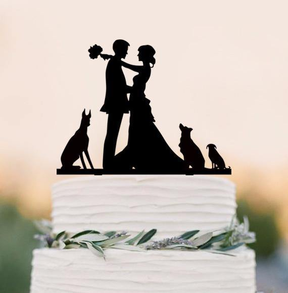 Wedding Cake Topper /Engagement Cake Decoration (Cat Dog Puppy Pet) - CHARMERRY