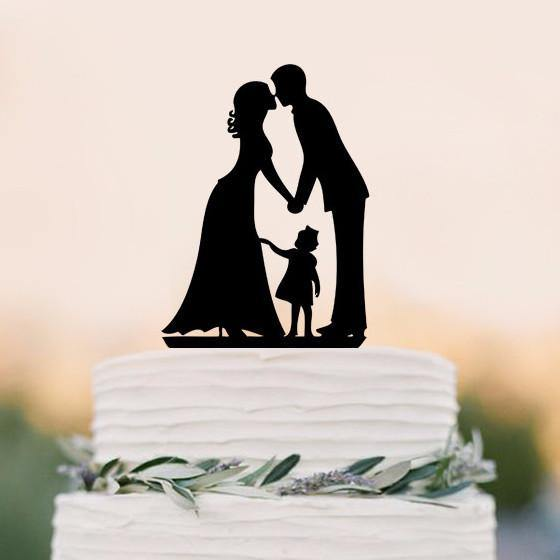 Wedding Cake Topper (Sweet Family Love /Girl Daughter Little Child Baby)