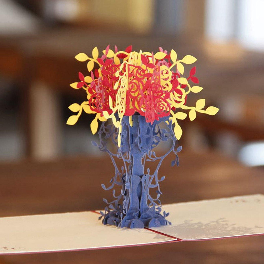 Bouquet Flower 3d Pop Up Greeting Card Invitation Papercraft Gift