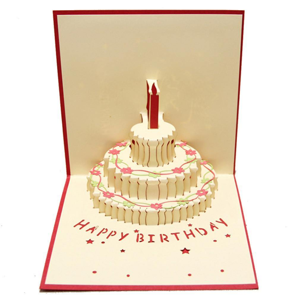 Happy birthday card 3d pup up greeting card birthday cake happy birthday card 3d pup up greeting card birthday cake papercraft m4hsunfo