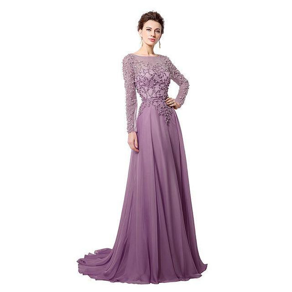 Romantic Evening Dress - Elegant Beaded Wedding Dresses & Bridal Gowns