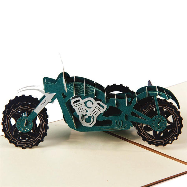 Motorcycle Greeting Card/ 3D Pup Up Card