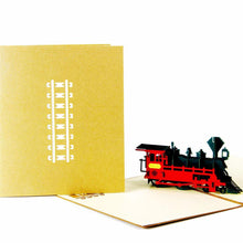 Load image into Gallery viewer, 3D Birthday /Gift /Greeting Card for Railway Train Lover, Kid, Boy, Son - CHARMERRY