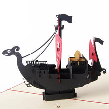 Load image into Gallery viewer, Pirate Ship Birthday &Greeting Card for Boy Kid Child (Boat Papercraft) - CHARMERRY