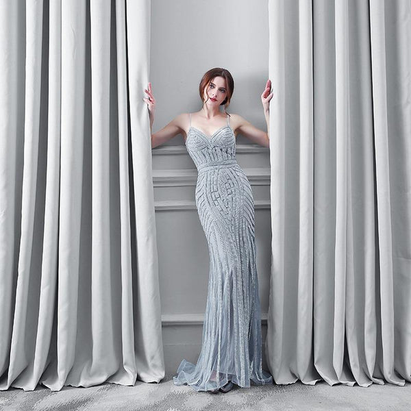 Goddess Beading Mermaid Evening Dresses - Gorgeous Bridal Wedding Gowns