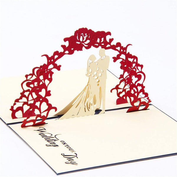 3D Pop Up Engagement Wedding Card (Romantic Invitation Card /Greeting Card)
