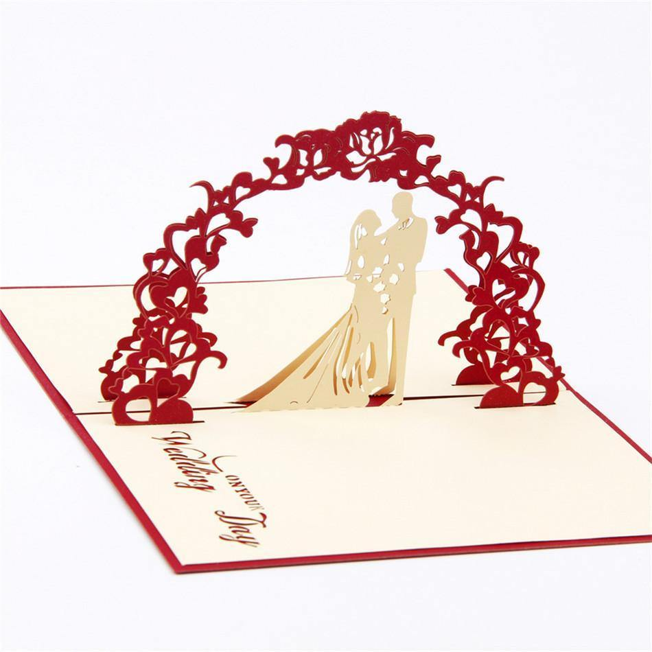 3D Pop Up Engagement Wedding Card (Romantic Invitation Card /Greeting Card) - CHARMERRY