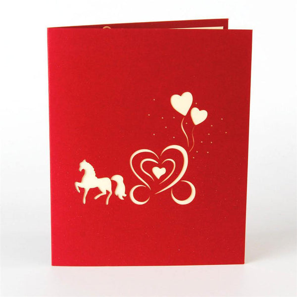 3D Pop Up Greeting Card &Invitation Card (Romantic Engagement /Wedding)