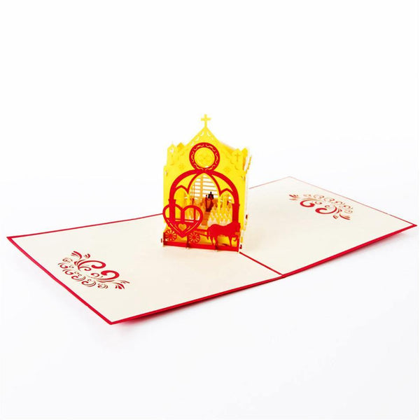 3D Pop Up Greeting Card &Invitation Card (Romantic Wedding /Engagement)