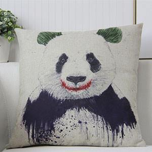 Panda Pillow Case (Accent Cushion Covers /Decorative Throw Pillowcases)[Smile]