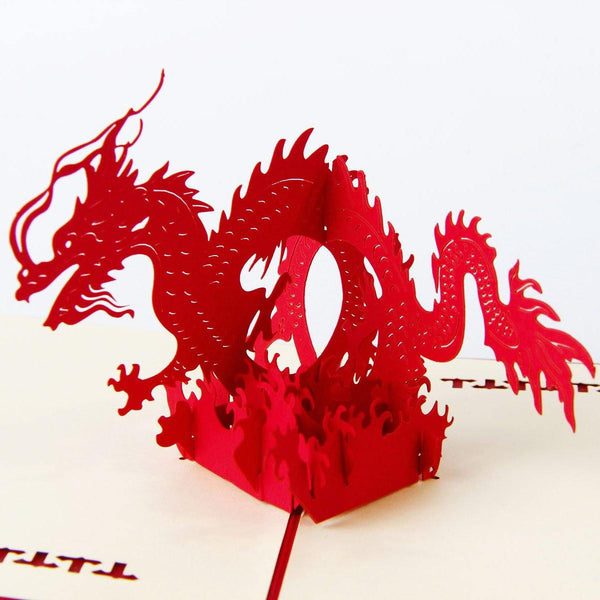 Dragon Papercraft (3D PopUp Greeting Card /Birthday Card /Invitation)