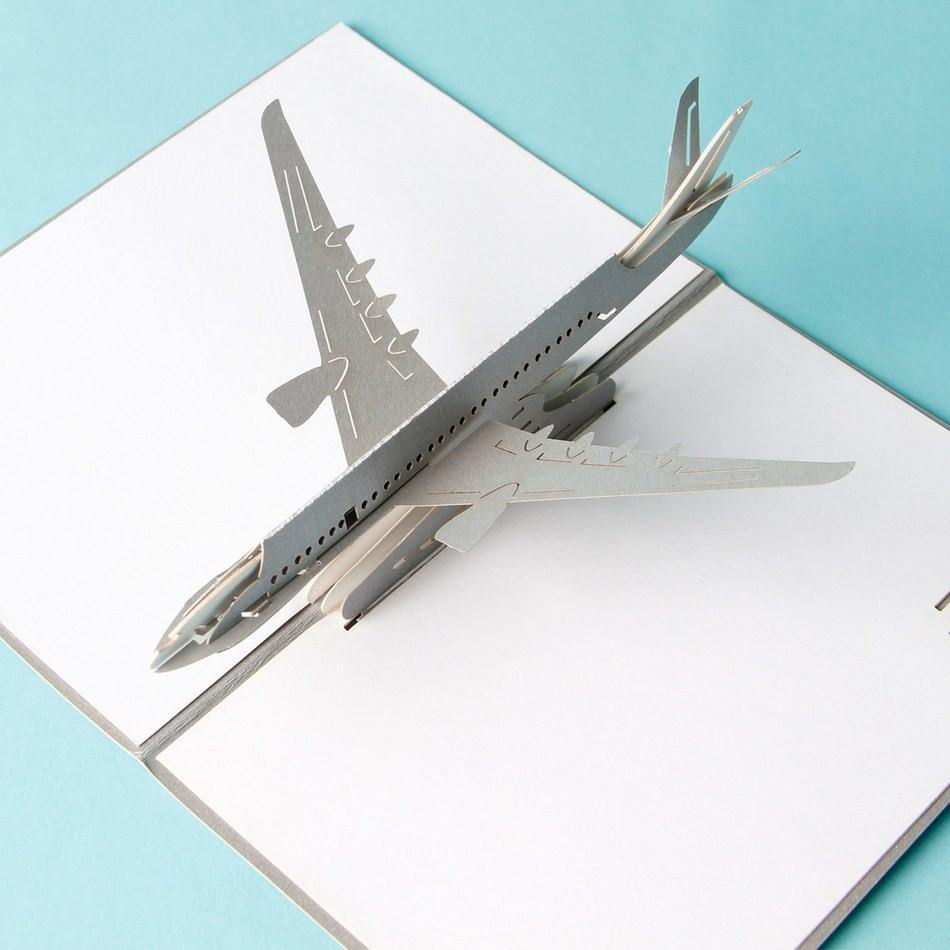 Airplane Birthday Card Greeting Postcard (Airline Plain Aircraft Airway)